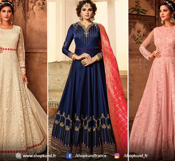 Dernière collection de costumes Anarkali Salwar en ligne