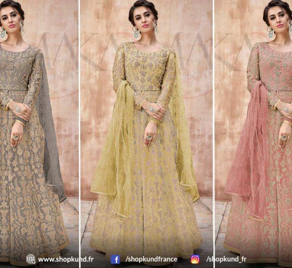 Vêtements de mariage Anarkali Costumes pour l'hiver