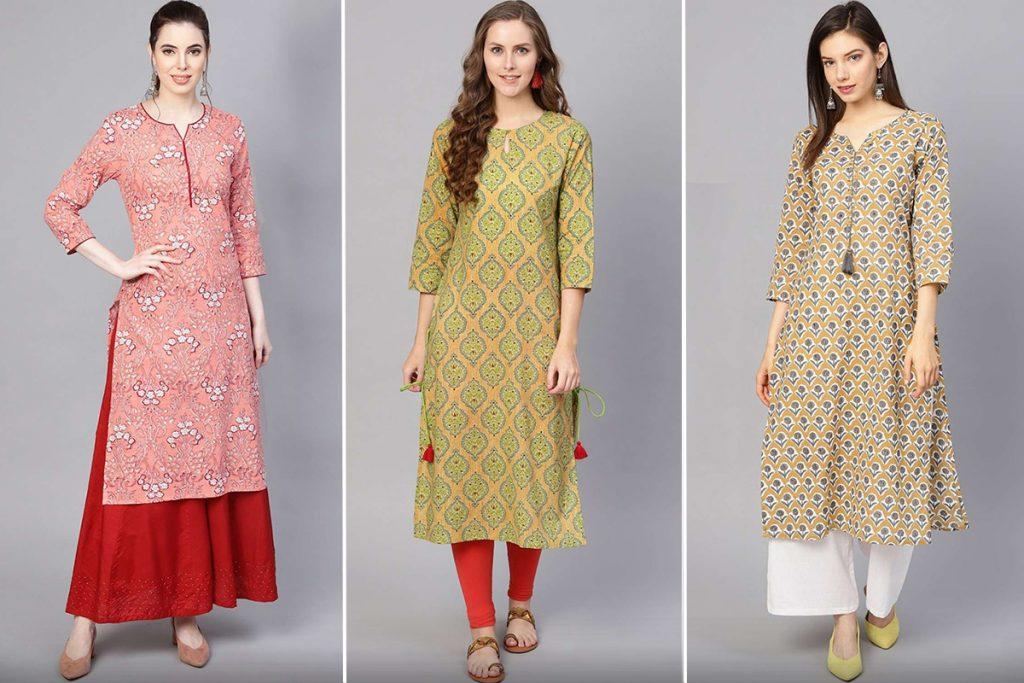 costumes de style kurti