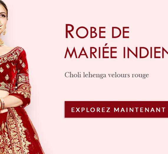 Apparence de la robe de mariée indienne la plus populaire