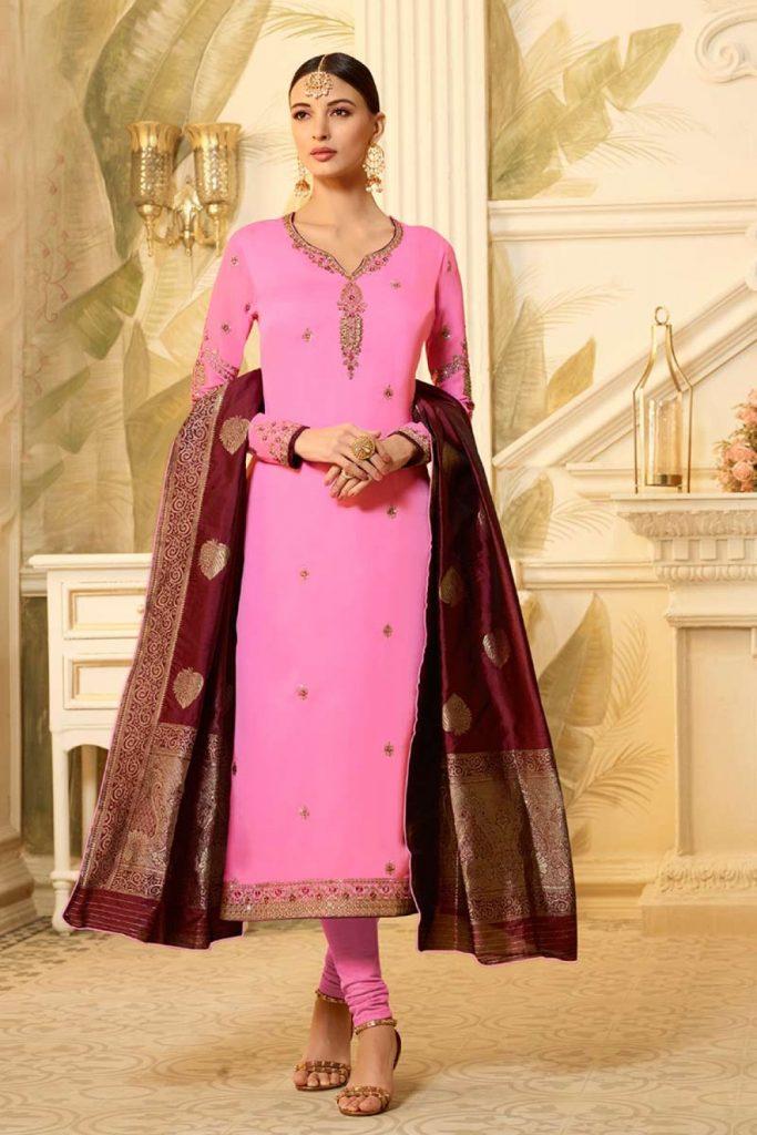 rose churidar costumes en ligne - Shopkund